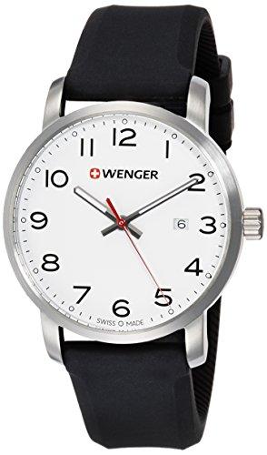 WENGER Reloj Analogico para Unisex de Cuarzo con Correa en Silicona 01.1641.103