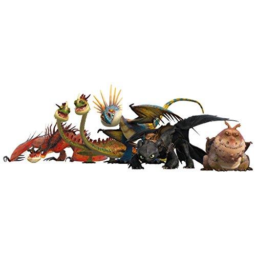 Bilderwelten Adesivo murale Dragons Dragon Group, Tatuaggio per Parete...