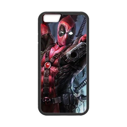 Deadpool coque iPhone 6 4.7 Inch Housse téléphone Noir de couverture de cas coque EBDXJKNBO12131