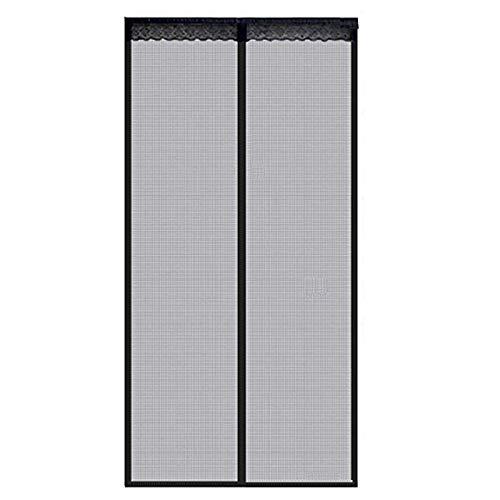 Fliegengitter Magnet Tür Insektenschutz Fliegenvorhang für Balkontür Schiebetür aus Fiberglas (90 x 210cm)