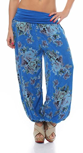 malito more than fashion -  Pantaloni  - Donna hellblau-Rose