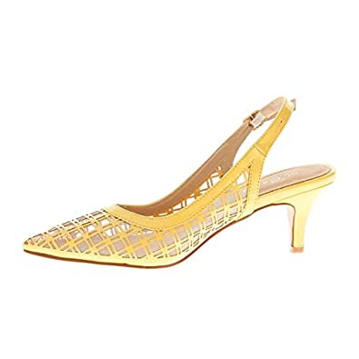 catisa-es3_ wh773-escarpin-femme Yellow Size: 5