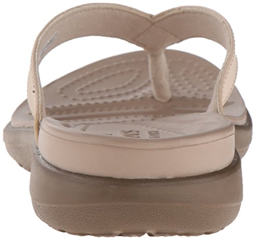 Crocs Capri V Flip, Chaussons Mules - Femme Beige (Chai/Walnut)