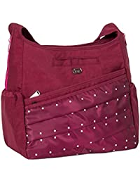 Lug Parachute Cross-body Bag, Cranberry Red Cross Body Bag