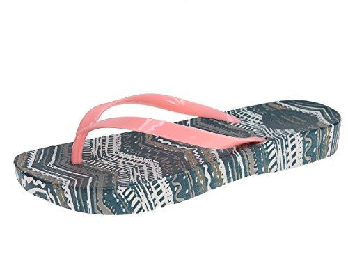 Beppi femme pantoufles tongs pantoufles pantoufles dété flip flops Corail