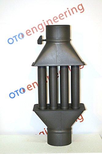 Abgasrohr Kamin Hölzerner brennender Herd Kühler Wärmeaustauscher mit ventil (4 Tubes)