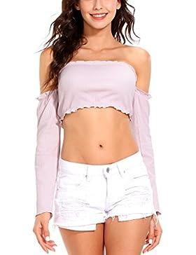 ISASSY - Camiseta de manga larga - para mujer