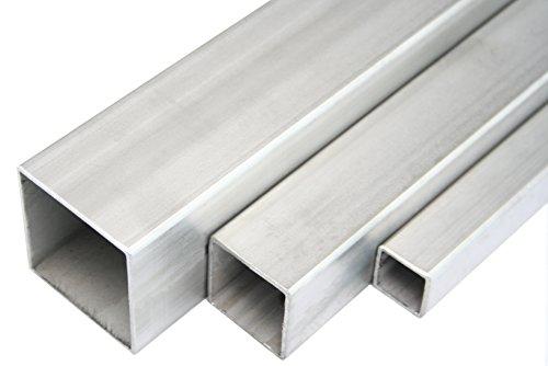 Edelstahl Quadratrohr Vierkantrohr Konstruktionsrohr V2A 1.4301 Blank 45x45x2mm 1000mm