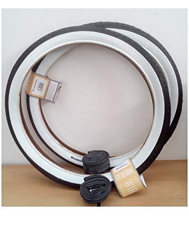 2x CST Weißwand Reifen 20 Zoll 20 x 1.75 | 47-406 (schwarz/weiß + 2 Schläuche AV Ventil)
