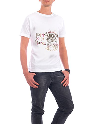 "Design T-Shirt Männer Continental Cotton ""born to be princess"" - stylisches Shirt Typografie Kindermotive Comic von Tatiana Davidova Weiß"