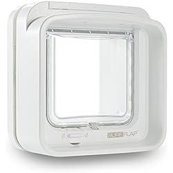 Sureflap Chatière à Puce Électronique Dualscan pour Chat - Blanc