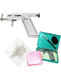 Butterme oreille Piercing Gun Pistolet Aiguille piercing oreille nez avec + 49 paire de kit Studs composent la machine-outil