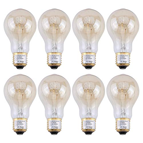Clever Vintage World Edison Light Bulb A19 1900 Antiquity 60w 110v 220v 240v Tube Filament Tungsten Home Decor Free Shipping Regular Tea Drinking Improves Your Health Lights & Lighting Light Bulbs