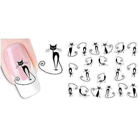 Calcomanías uñas, AIMEILI Pegatinas de Uñas Decoración Elegante DIY Nail Arte