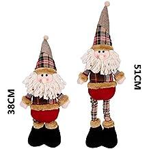 objetos adornos Navidad juguete Papá Noel Muñeco Nieve Reno niños regalo de Navidad Déco Navidad oficina