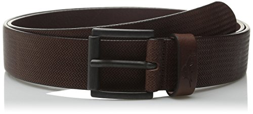 tommy-bahama-mens-belt-herringbone-embossed-1102tm0062-size-40-brown-leather