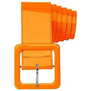 WIDMANN 17399 - Cinturón de vinilo para adultos, mujer, color naranja neón, talla única