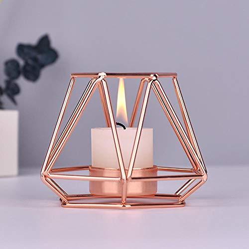Baiwka Metall Teelicht Kerzenhalter Geometrische Metalldraht Eisen Teelicht Kerzenhalter Eisen Kerzenhalter Nordischen Schmiedeeisernen Geometrischen Halter für Tischdekoration Hochzeit Dekoration