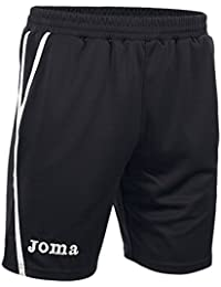 Joma Game - Pantalones cortos unisex, color negro / blanco, talla L