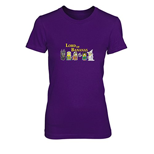 Lord of Bananas - Damen T-Shirt, Größe: XL, Farbe: - Lila Despicable Me Kostüm