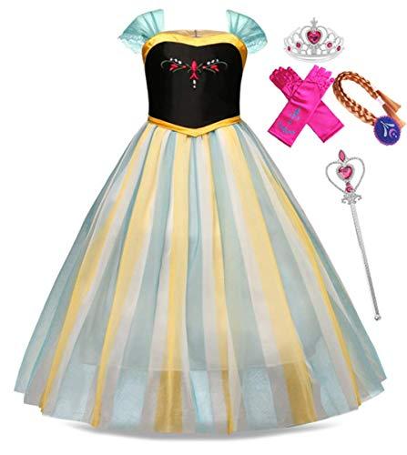 Frozen Dress Up Kleidung - EMIN Kinder Mädchen Prinzessin Kleid Eiskönigin