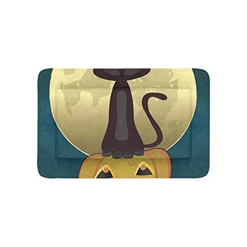 (Schwarze Katze Hexen für Halloween Extra Große Individuell Bedruckte Bettwäsche Weiche Hundebett Für Welpen Und Katzen Möbel Matte Höhlenauflage Kissenbezug Innen Geschenk Lieferanten 36 X 23 Zoll)