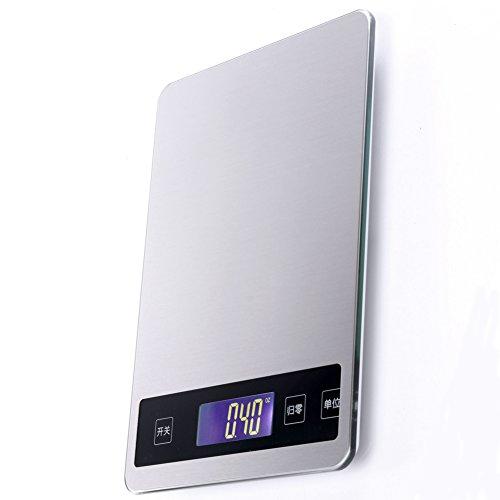 Lishi Elektronische Küchenwaage USB Flat Edelstahl 1G Hohe Präzision Backenwaagen 15Kg,#1