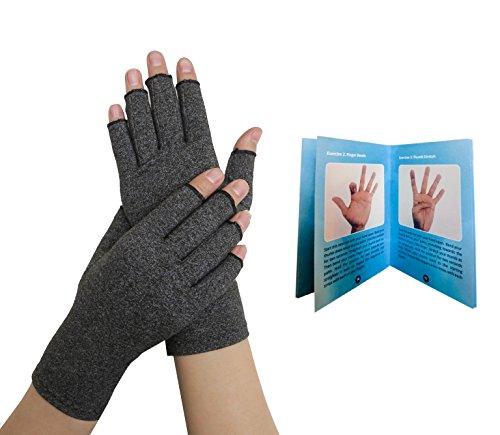 Von Ärzten Entwickelte Arthritis Kompressions-Handschuhe und von Ärzten verfasstes Handbuch – lindert die Symptome von Arthritis, des Raynauds Syndroms & Karpaltunnelsyndroms & generelle Beschwerden der Hände (S) (Arzt Handschuhe)
