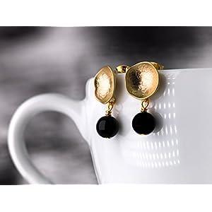 Moderne Ohrringe in Gold und Sch