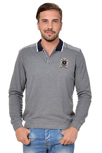 Sweat Maglietta T-Shirt Polo Felpa manica lunga per uomo di M.Conte Orsson grigio M