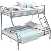 """UEnjoy litera Triple Sleeper Bed para Adultos y niños, Silver 75.2""""*52""""*65.4"""", 191 * 132 * 166cm"""