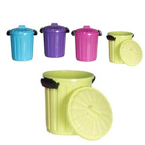 Mülltonne Mülleimer ca. 7 Liter mit Deckel Abfalleimer Büro Küche Recycling Pink