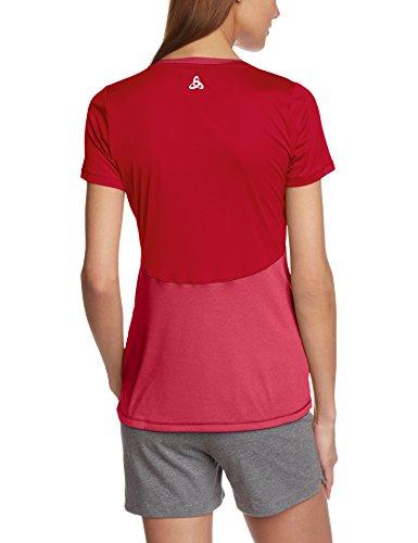 Odlo t-shirt à manches courtes pour femme clio Rouge - Lollipop