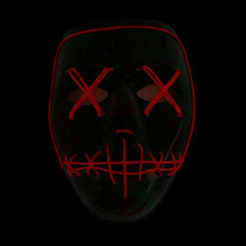 Bolange maschera di terrore confortevole modalità remota illuminazione colore -> rosso