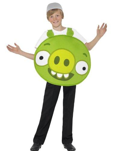 Grün Pig - Angry Birds - Childrens Kostüm - Large - 158cm - Alter 10-12