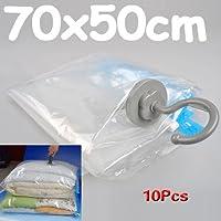Sonline 10 Paquets 70x50 Vacuum Comprime Stockage economie Vetements espace Economiseur Sceau Sacs.