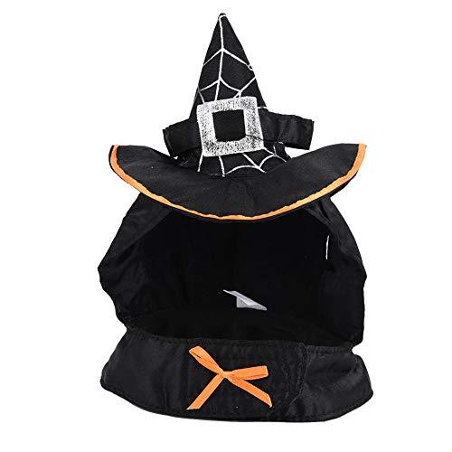 (Zauberer Hut Haofy Pet Dekoration schwarz Zauberer Hut mit Lätzchen Katze Kostüm verwandelt Kleid Kostüm für Halloween Festival Party)