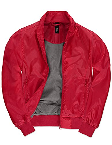 Jacket Trooper /Women, Größe:S, Farbe:Red-Warm Grey Lightweight Taffeta Parka