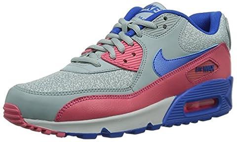 Nike Wmns Air Max 90 325213-505 Damen Low-Top Sneaker Grau (Grau / Magenta / Blau) 40.5