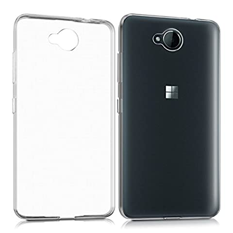Coque Microsoft Lumia 650 , MENGGOOD TPU Étuis Housses Clair Cas Case Etui Silicone Transparente Cover Protection Couverture pour Microsoft Lumia 650 - Antidérapant Crystal Bumper