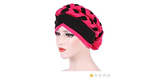 Nacola Damen Chemo Cancer Turbans Cap Twisted Braid Hair Cover Wrap Turban Kopfbedeckung