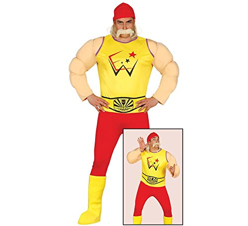Wrestling Ringer Kostüm für Herren Wrestler Herrenkostüm Ringkämpfer Kämpfer Gr. M - L, Größe:L
