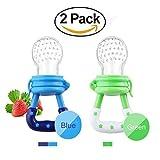 Xiton Fresh Food Feeder ciuccio, bambino frutta Mesh Feeder dentizione Sacchetti silicone del giocattolo per i più piccoli bambini (2 pezzi)