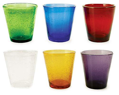 Villa d'Este Cancun Set Bicchieri, Multicolore, 9 cm, 6 unità