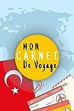 Mon Carnet De Voyage: Journal de voyage TURQUIE,Pour Vous Accompagner Durant Votre Voyage ,125 pages, grille de lignes | Idée cadeau | format 6x9 DIN A5, couverture souple matte...