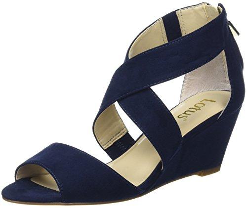 Lotus Cheeney, Sandales compensées femme Blue (navy Micro)