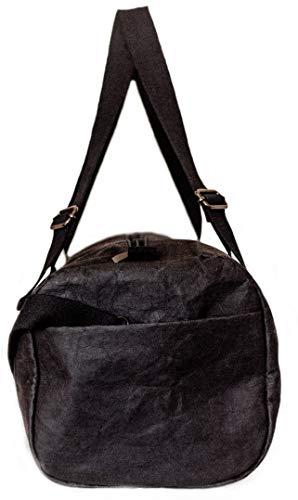 Papero ® Sporttasche aus Kraft- Papier ♻ | Ultra minimalistisch Herren Damen, Robust, Wasserfest ✅ Vegan fair nachhaltig ✅ Urban Style|FSC Zertifiziert | Reisetasche, Weekender - 3