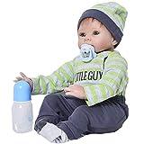 Realistische Reborn Baby-Puppe, lebensecht, ca. 55 cm, aus weichem Silikon, für Neugeborene, Spielzeug-Puppe, Mädchen, Jungen, Kinder-Geburtstag Geschenk