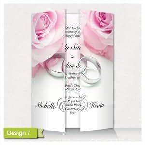 10 cartons d'invitation pour mariage à personnaliser avec ruban *vinyles de luxe perle GF7 carte *