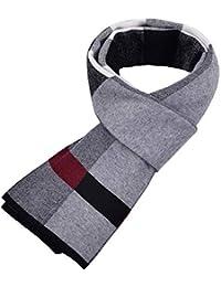 97d6e39e5b76 Relddd Echarpes Hommes Nouveau Écharpes d hiver Et d hiver Écharpes pour  Hommes Longue